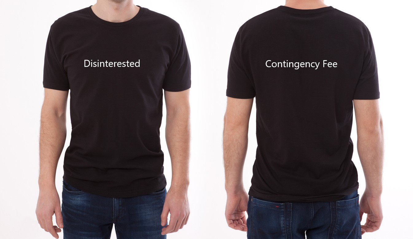 Disinterested-Contingency-Fee-t-shirt-iStock-1138400591