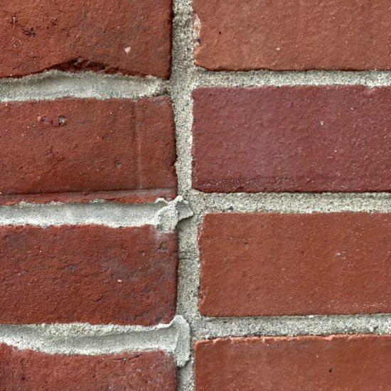 New and Old Mismatched Brick